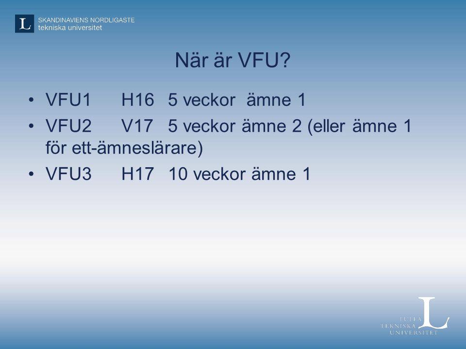 När är VFU.