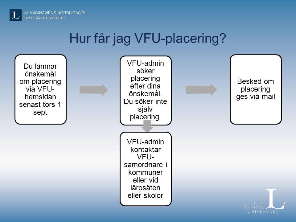 Hur får jag VFU-placering.