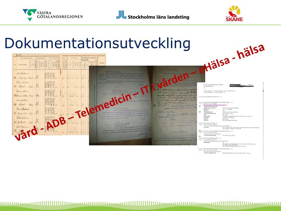 vård - ADB – Telemedicin – IT i vården – eHälsa - hälsa Dokumentationsutveckling