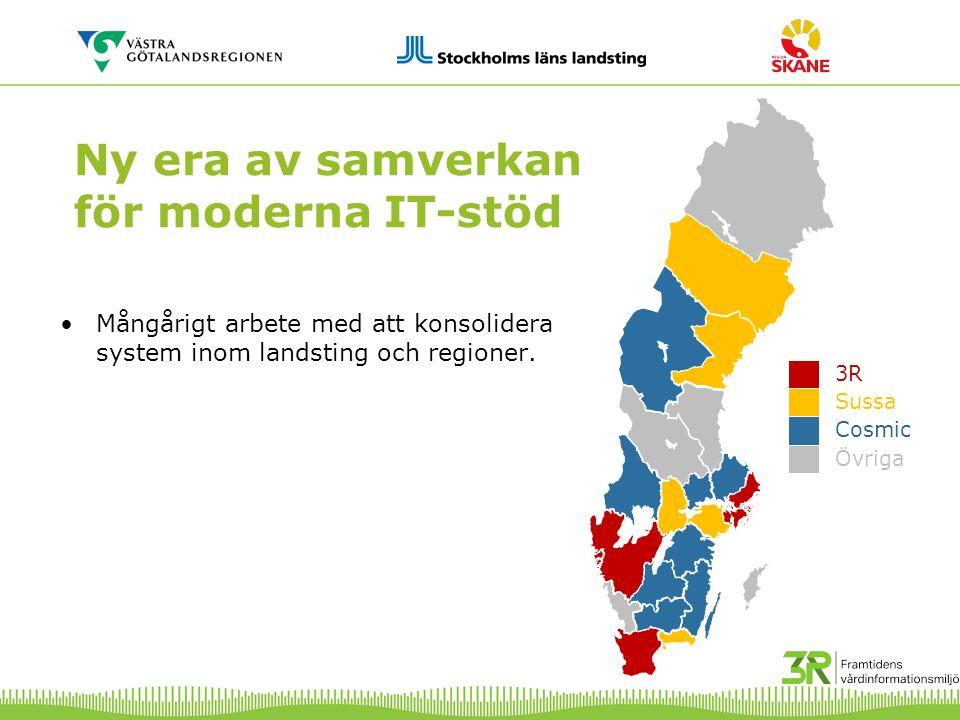 Summering hittills Program 3RFVM ägs av Region Skåne, Stockholms läns landsting och Västra Götalandsregionen Programmet arbetar gemensamt för en hållbar och långsiktig informationsstruktur genom fokus på arbete inom verksamhet, informatik och arkitektur/teknik Upphandlingsprojekt VGR/SLL start enligt plan januari –Vårdverksamheternas behovs- och kravfångstarbete, inklusive patientscenarier delas mellan VGR och SLL.