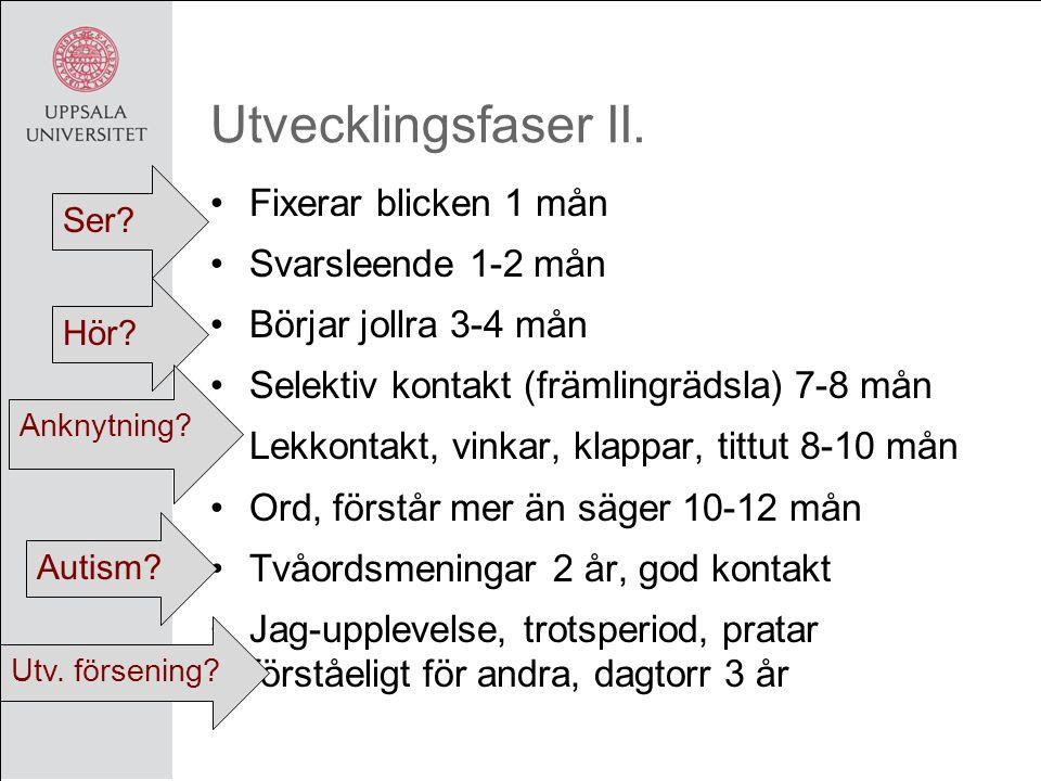 Utvecklingsfaser II.