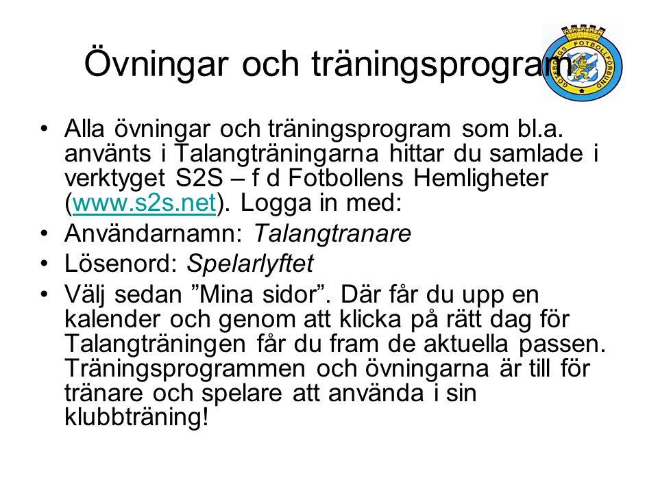 Övningar och träningsprogram Alla övningar och träningsprogram som bl.a.