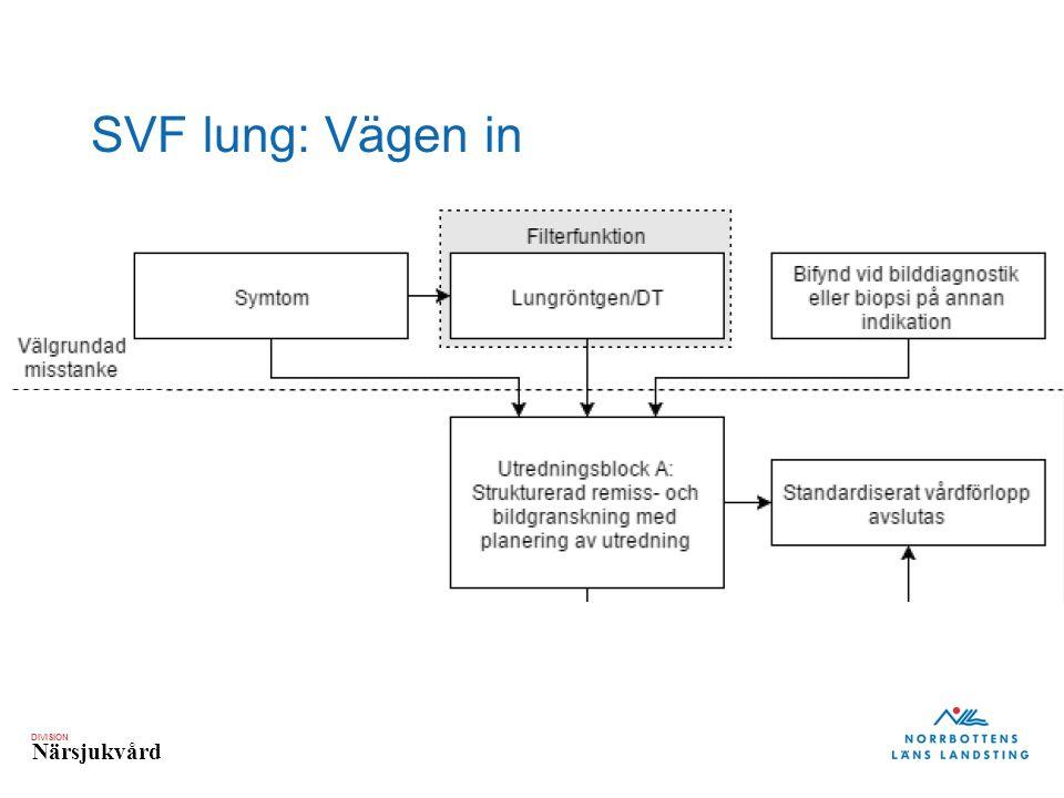 DIVISION Närsjukvård SVF lung: Vägen in