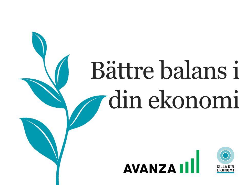 Bättre balans i din ekonomi