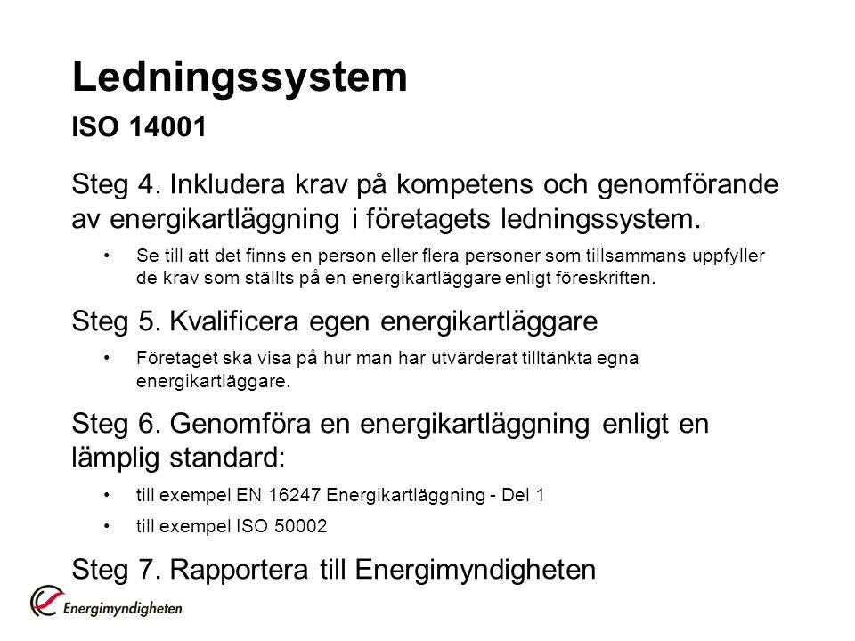 Ledningssystem ISO 14001 Steg 4.