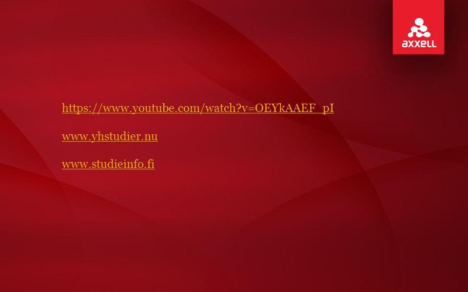 https://www.youtube.com/watch v=OEYkAAEF_pI www.yhstudier.nu www.studieinfo.fi