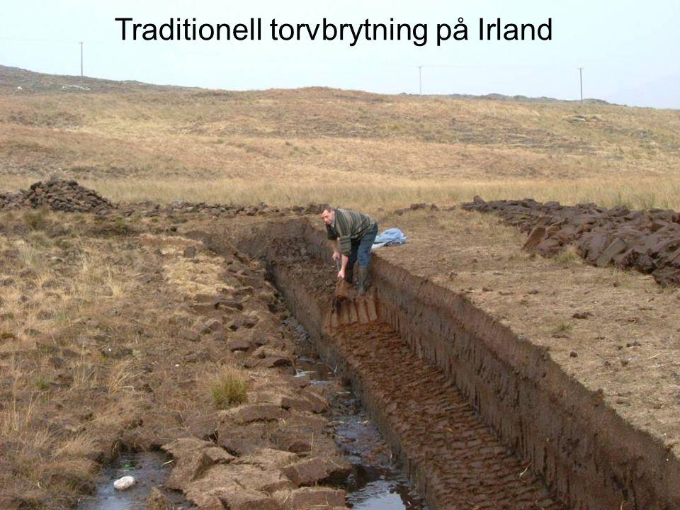 Traditionell torvbrytning på Irland