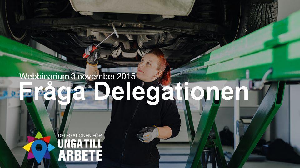 Fråga Delegationen Webbinarium 3 november 2015