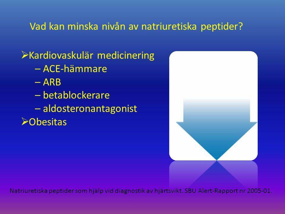 Vad kan minska nivån av natriuretiska peptider.