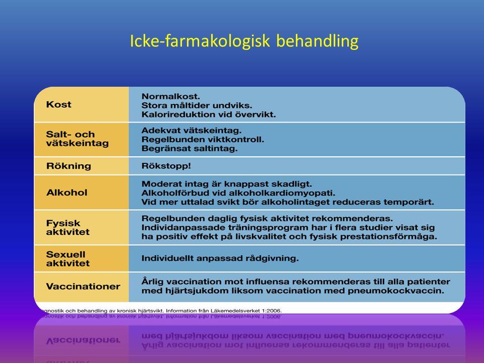 Icke-farmakologisk behandling