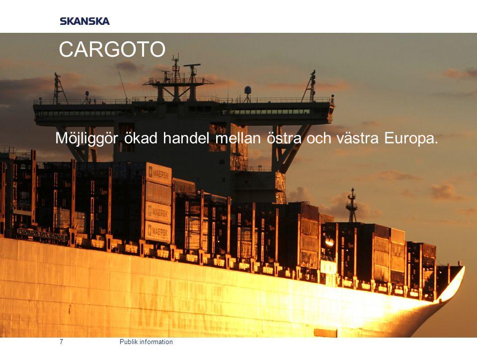 Publik information CARGOTO 7 Möjliggör ökad handel mellan östra och västra Europa.