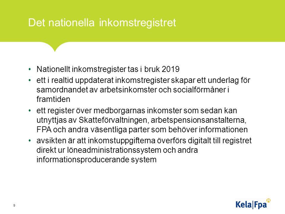 Kundservice och kanalstrategier FPA sköter bl.a.