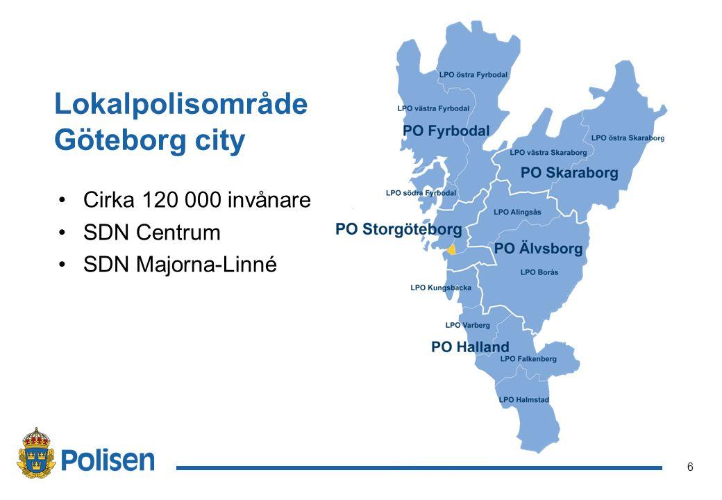6 Cirka 120 000 invånare SDN Centrum SDN Majorna-Linné