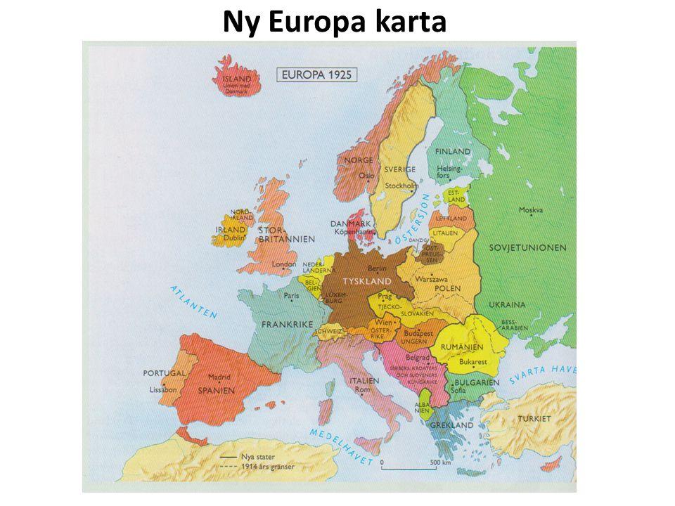 Ny Europa karta