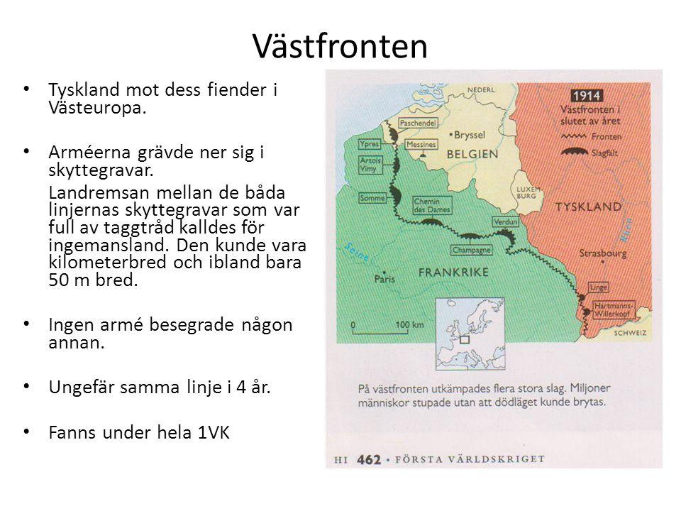 Västfronten Tyskland mot dess fiender i Västeuropa.