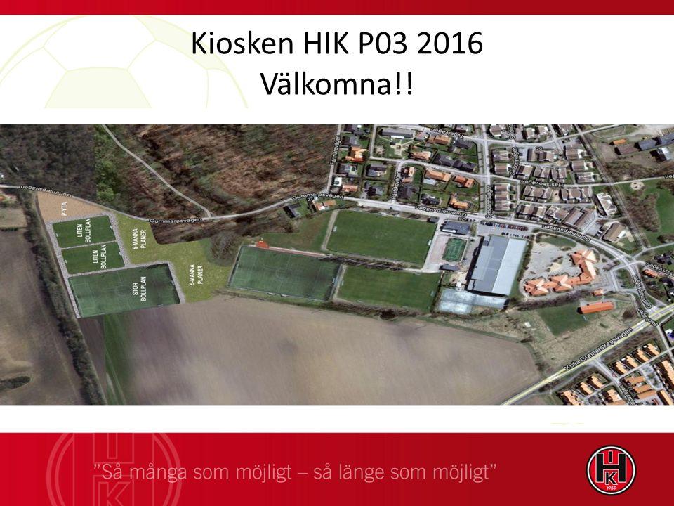 Kiosken HIK P03 2016 Välkomna!!
