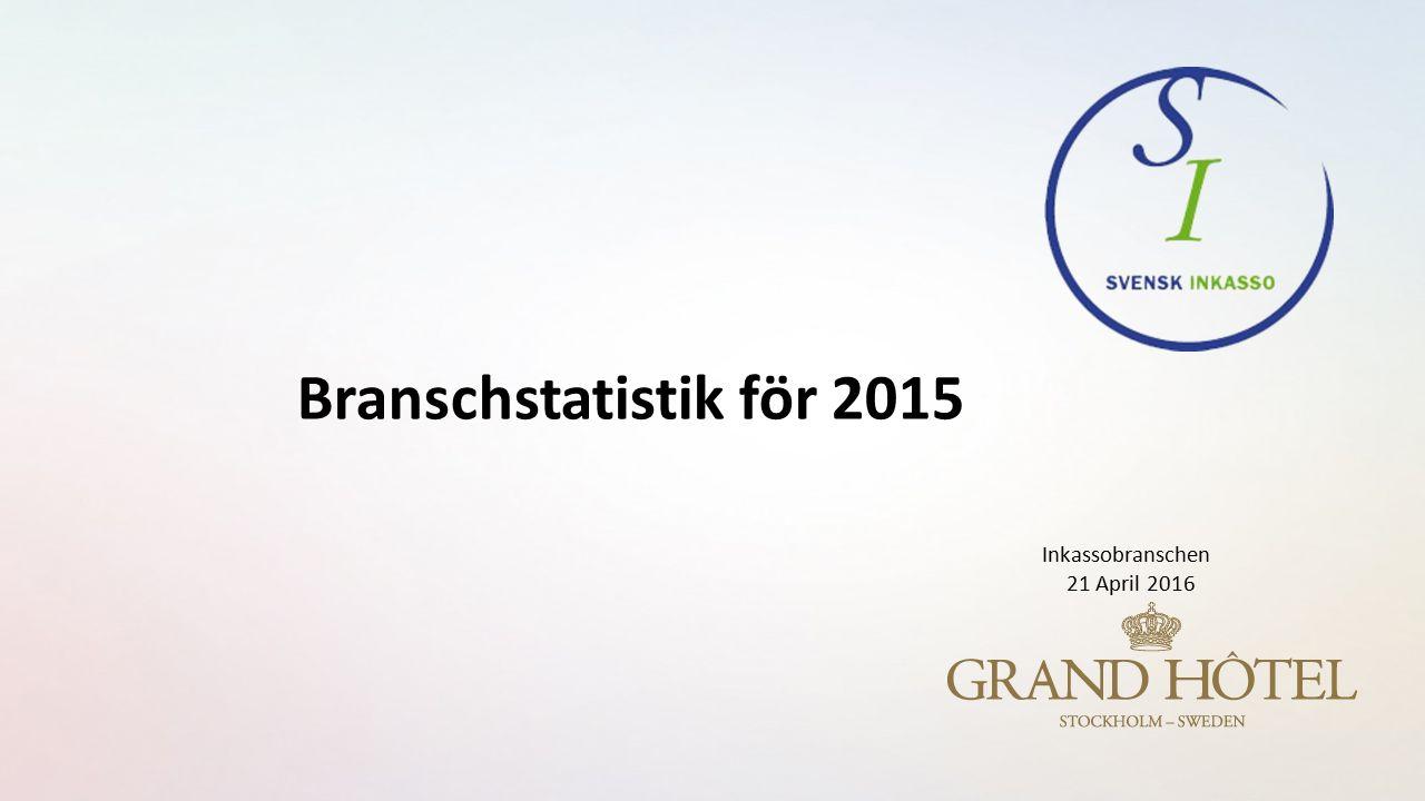 Branschstatistik för 2015 Inkassobranschen 21 April 2016