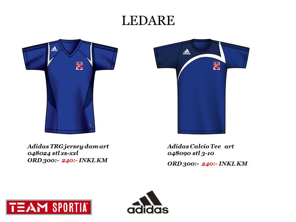LEDARE Adidas TRG jersey dam art 048024 stl xs-xxl ORD 300:- 240:- INKL KM Adidas Calcio Tee art 048090 stl 3-10 ORD 300:- 240:- INKL KM