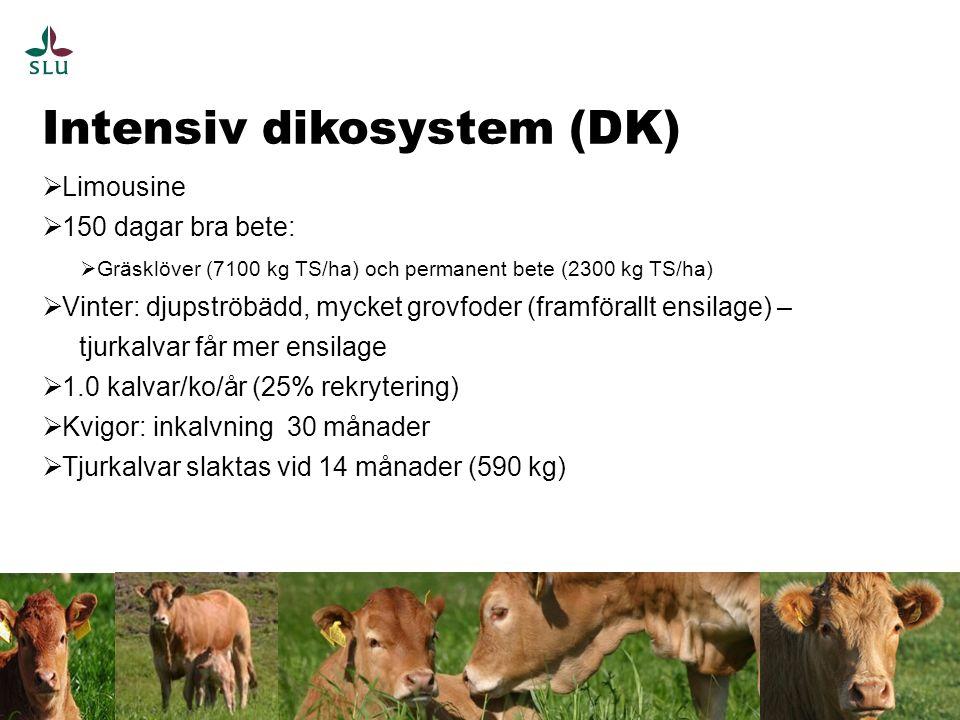 Klimatavtryck av djurfoder 18 FORSØG II - RISBJERG SLAGTESVIN PÅ KLØVERGRÆS, KÅL OG ROER g CO 2 /kg (DM)