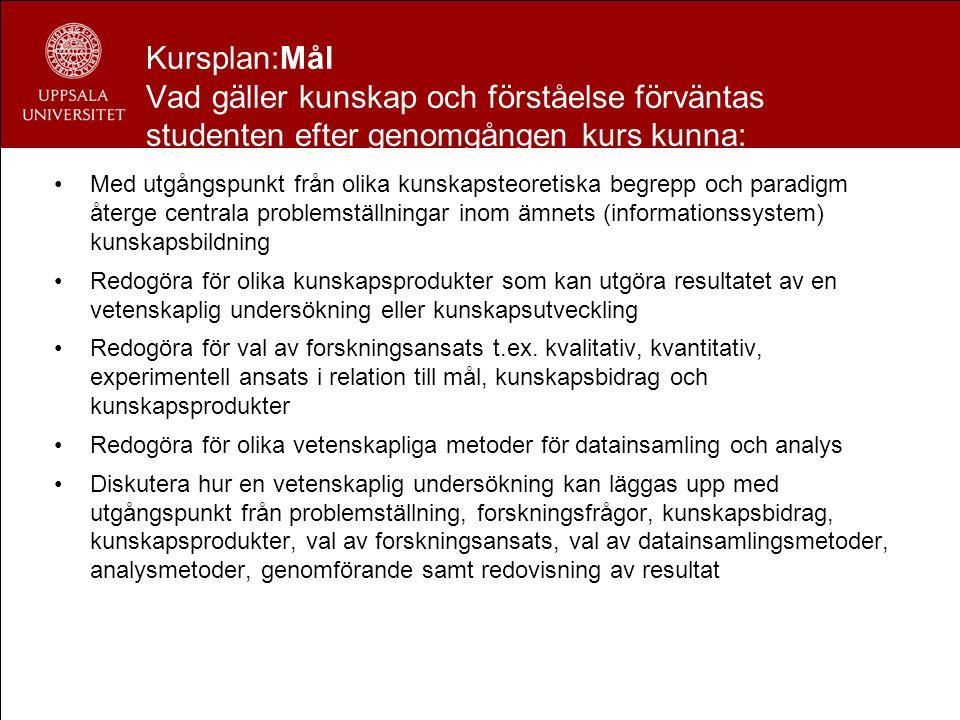 Varför forskningsfrågor/syfte/kunskapsprodukter/kunskapsk aratärisering/kunskapskleinter.