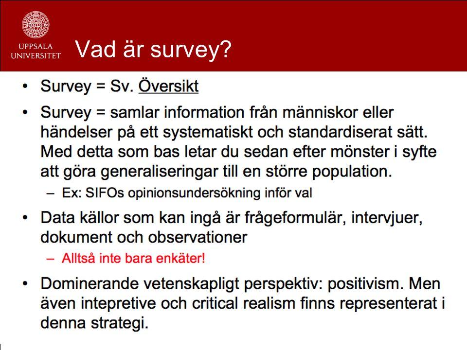 Vad är survey?