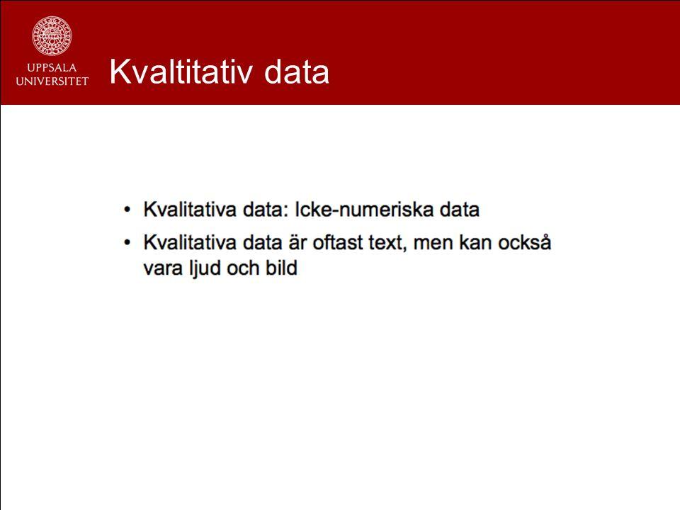 Kvaltitativ data