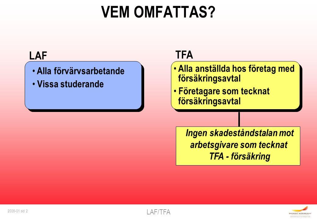 LAF/TFA 2006-01 sid 3 VILKA SKADOR OMFATTAS .