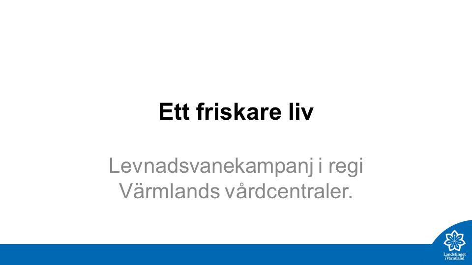 Ett friskare liv Levnadsvanekampanj i regi Värmlands vårdcentraler.