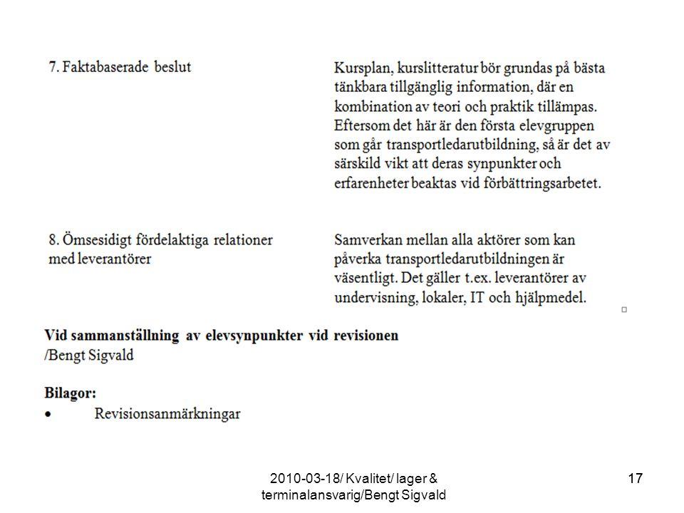 17 2010-03-18/ Kvalitet/ lager & terminalansvarig/Bengt Sigvald