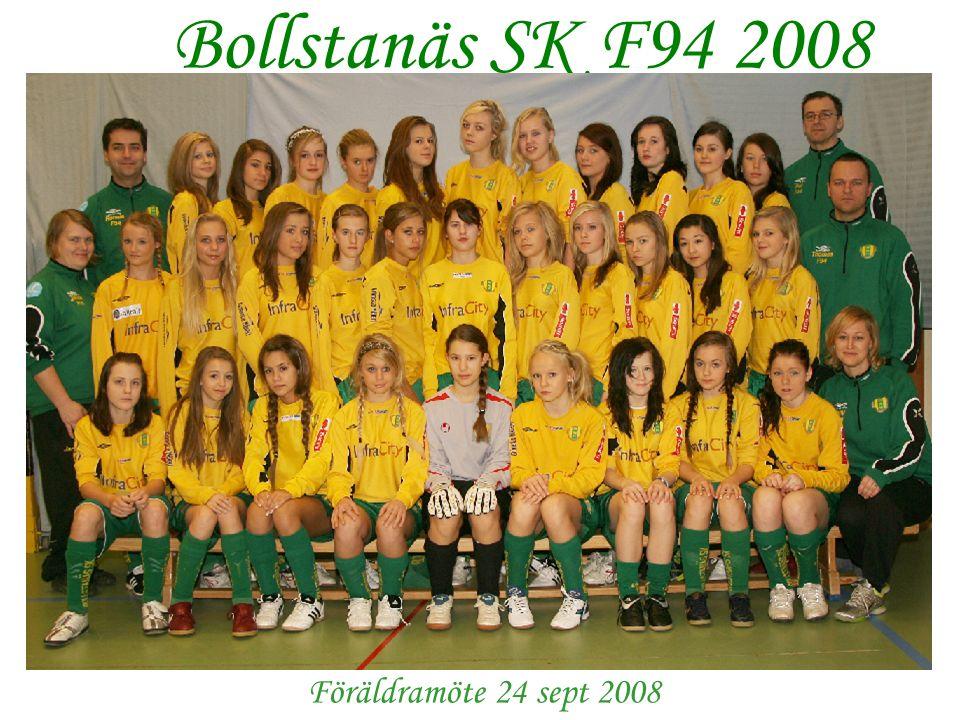 Välkomna! Bollstanäs SK F94 2008 Föräldramöte 24 sept 2008
