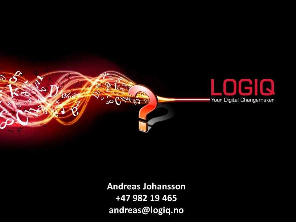 Andreas Johansson +47 982 19 465 andreas@logiq.no