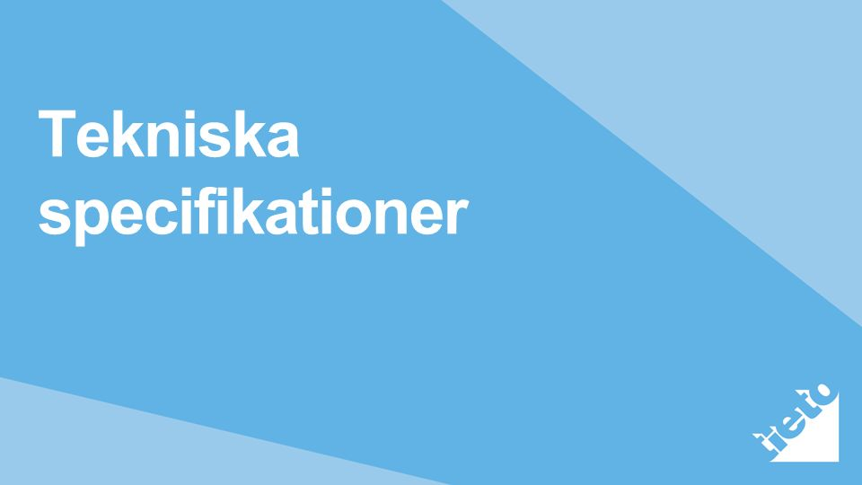 Tekniska specifikationer