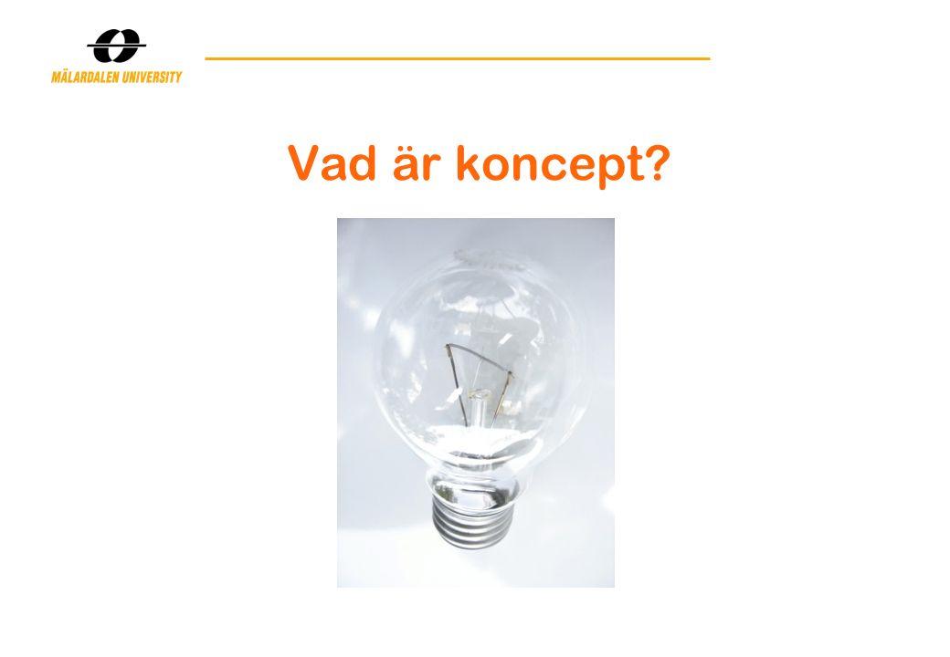Vad är koncept?