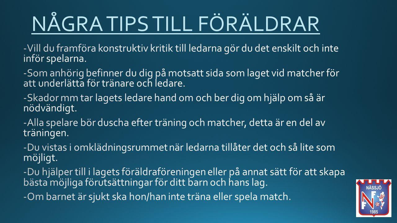 NÅGRA TIPS TILL FÖRÄLDRAR