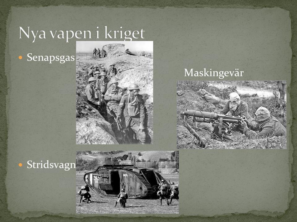Senapsgas Maskingevär Stridsvagn