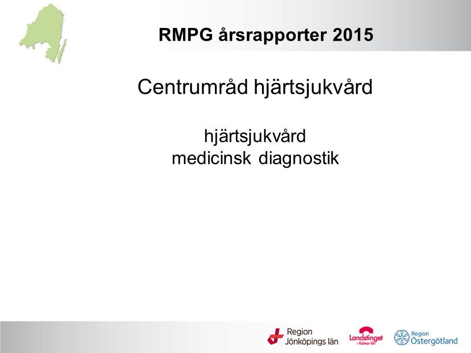 Centrumråd hjärtsjukvård hjärtsjukvård medicinsk diagnostik RMPG årsrapporter 2015