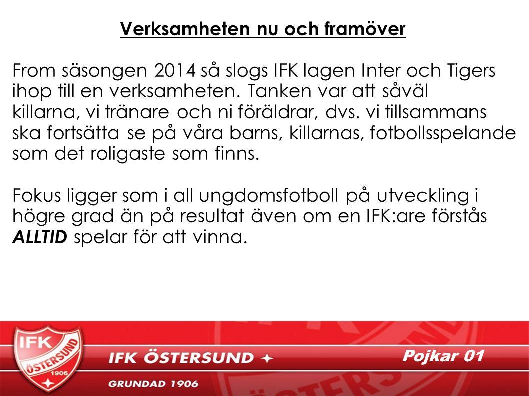 Verksamheten nu och framöver From säsongen 2014 så slogs IFK lagen Inter och Tigers ihop till en verksamheten.