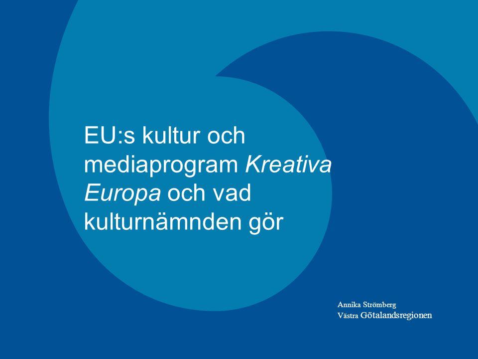 PROGRAMMETS ALLMÄNNA MÅL Skydda, utveckla och främja Europas kulturella och språkliga mångfald och främja Europas kulturarv Stärka de europeiska kulturella och kreativa sektorernas konkurrenskraft för att främja smart och hållbar tillväxt för alla (Europa 2020-målen)