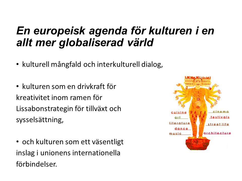 Öppna samordningsmetoden ÖSM EU-kommissionen, kulturagendan Rådet Dvs medlemsstaterna Dvs kulturdepartementet Kulturutövarna Dvs fältet, alla ni som håller på Civilsamhällets plattform