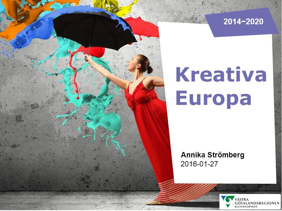 Bevakar kulturfrågor inom EU KREATIVA EUROPA DESK SVERIGE Kulturrådet och Filminstitutet delar på uppdraget som nationell kontaktpunkt − Kreativa Europa Desk Kultur − Kreativa Europa Desk MEDIA Informerar om EU:s program Kreativa Europa Rådger sökande i ansökningsprocessen