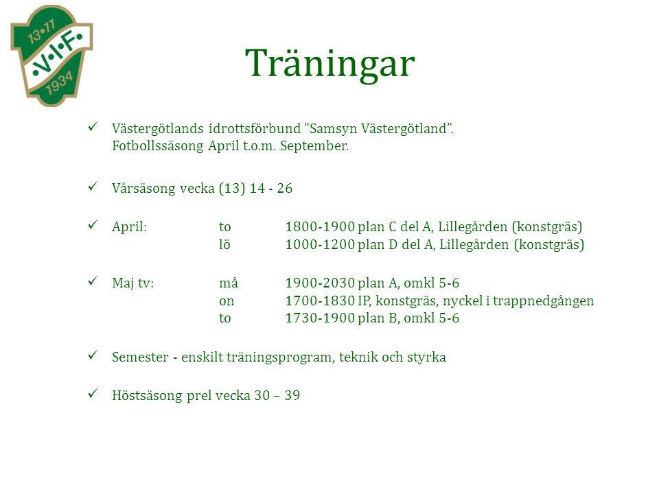 Träningar Västergötlands idrottsförbund Samsyn Västergötland .