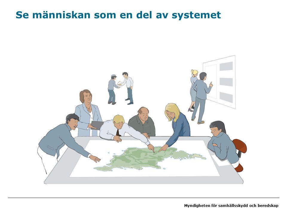 Myndigheten för samhällsskydd och beredskap Se människan som en del av systemet