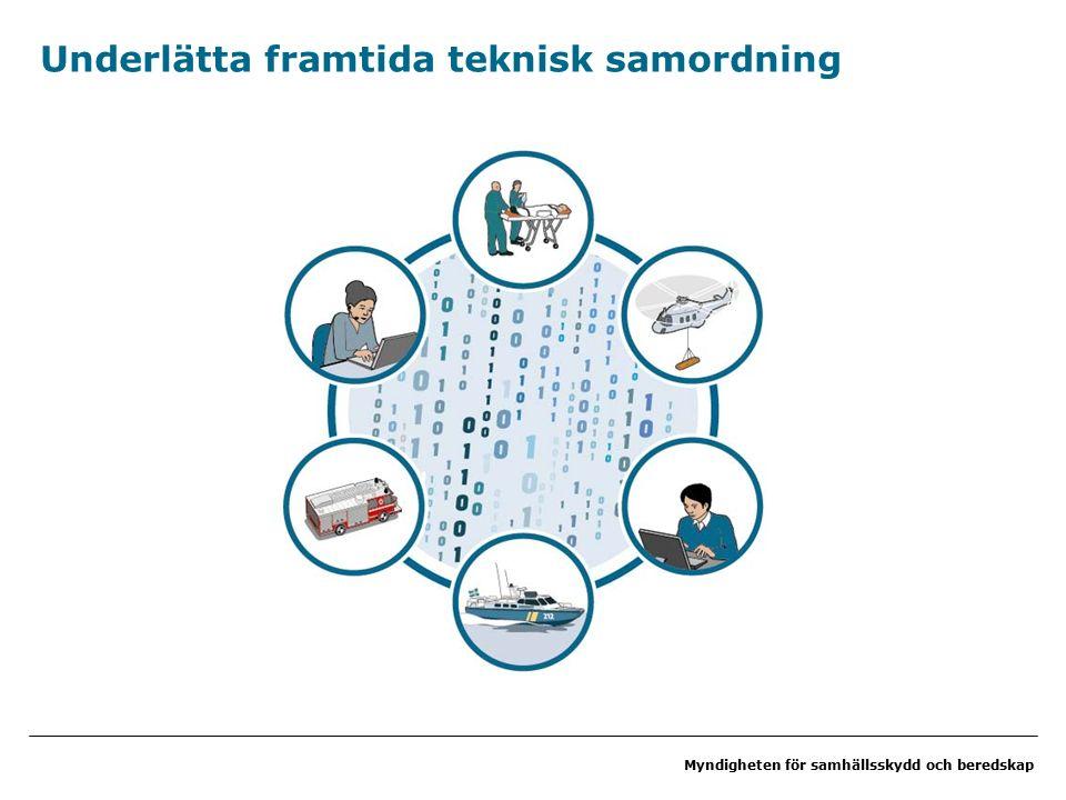 Myndigheten för samhällsskydd och beredskap Underlätta framtida teknisk samordning