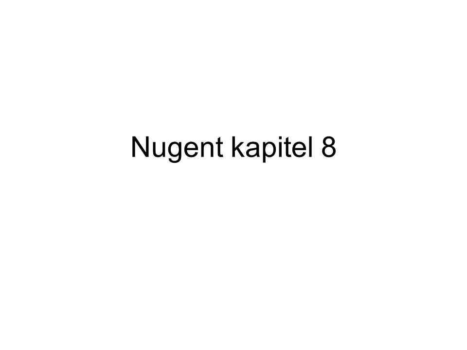 Nugent kapitel 8