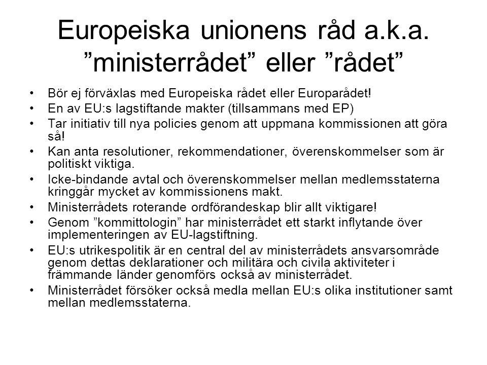 Europeiska unionens råd a.k.a.