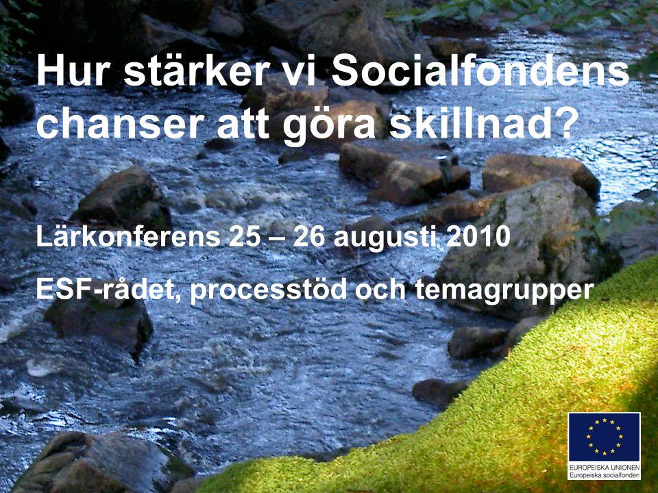 Program 25 augusti Inledning Inspel från uppföljningar En lägesbild Inspiration Gruppdialoger Reflektioner
