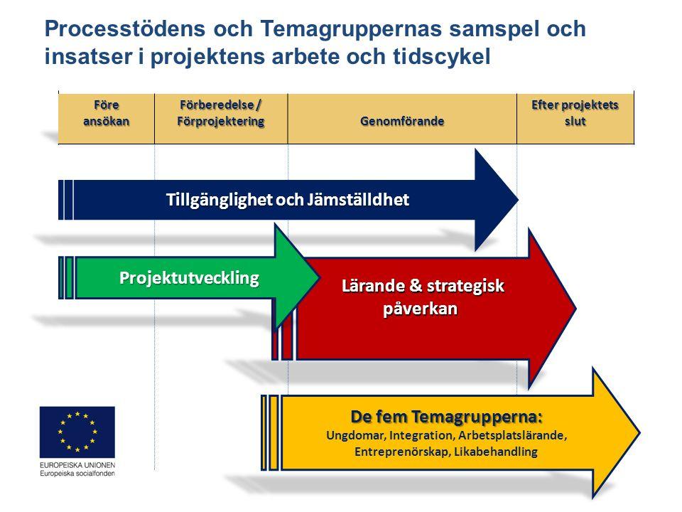EU 2020 Nationella strategin Socialfonds- programmet Den regionala planen Lissabon- strategin GENOMFÖRANDE Ansöknings- omgång BeredningPrioritering Beslut UTFALL RESULTAT EFFEKTER Påverkan på policy, system och politik o regionalt o nationellt o EU-nivå RUP