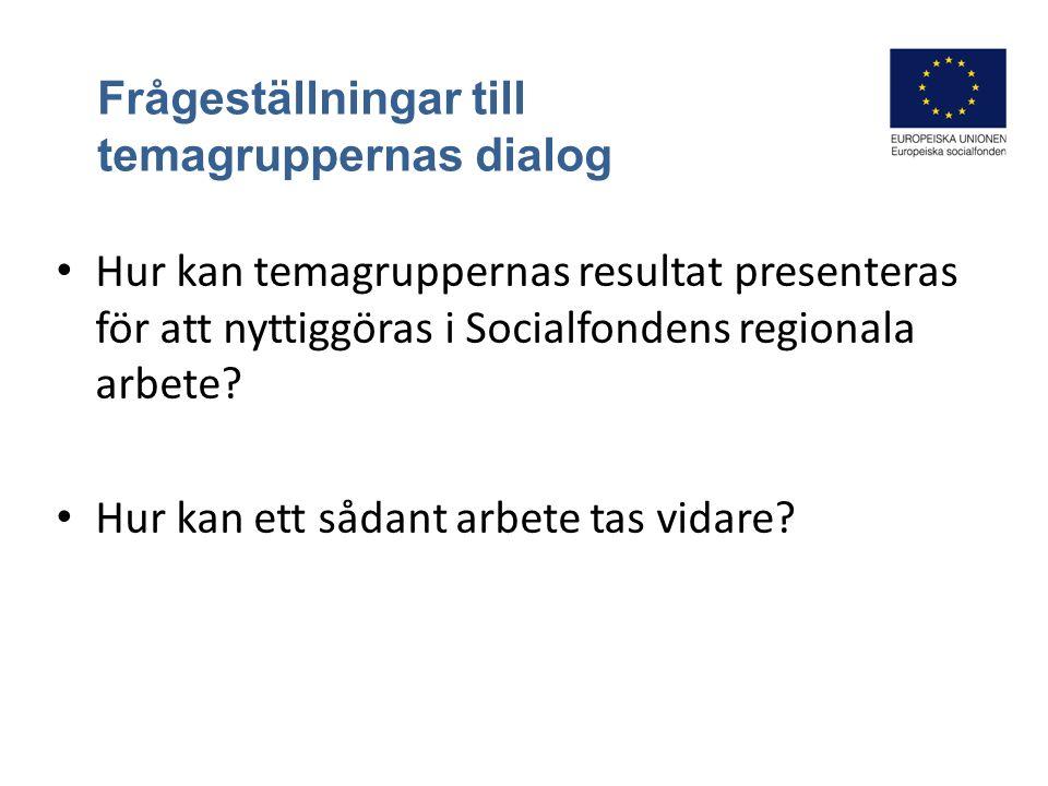 Regioncheferna Gunilla Tosteby Mats Andersson Cenita Panelsamtal efter gruppdialogerna