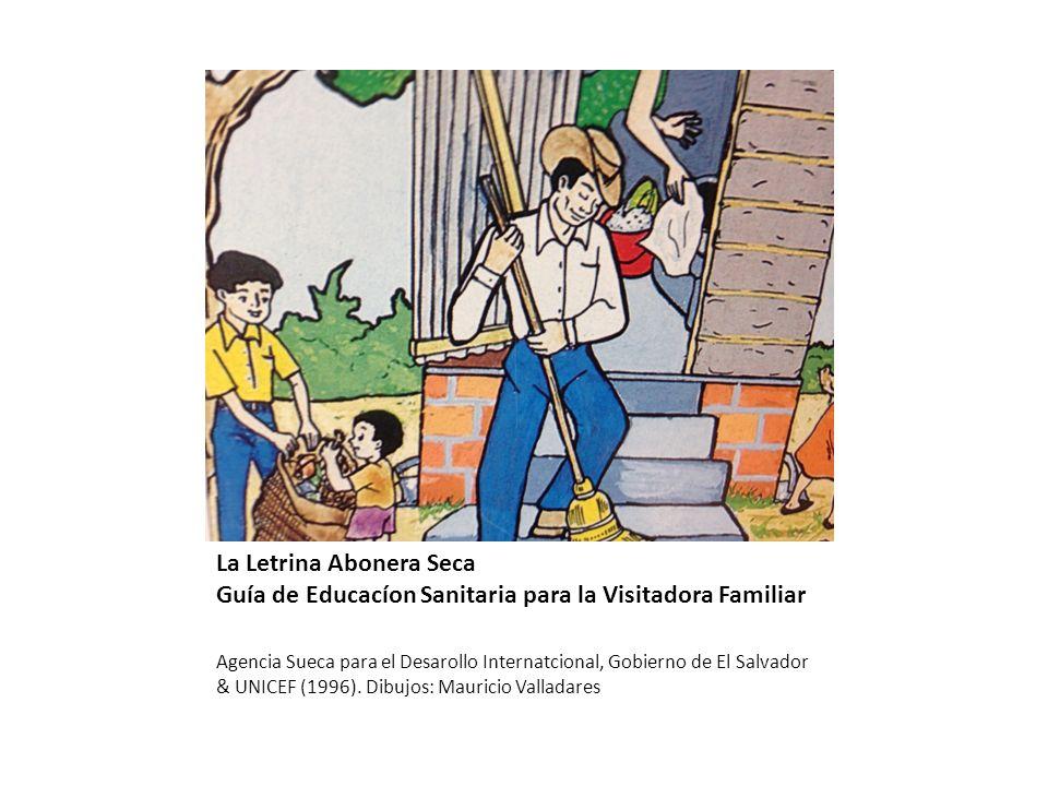 La Letrina Abonera Seca Guía de Educacíon Sanitaria para la Visitadora Familiar Agencia Sueca para el Desarollo Internatcional, Gobierno de El Salvador & UNICEF (1996).