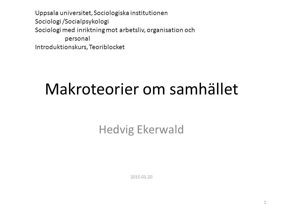 Bjurström & Fornäs Sverige – vardag och struktur om Habermas och ungdomar s. 453 32
